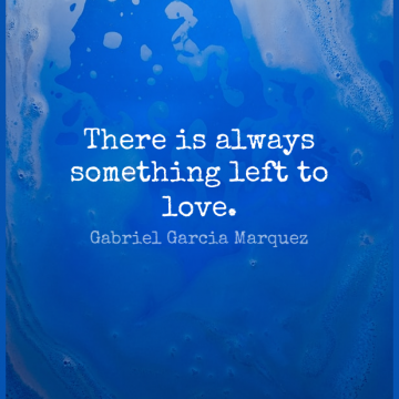 Short Romantic Quote by Gabriel Garcia Marquez about Mean,Thinking,Grace for WhatsApp DP / Status, Instagram Story, Facebook Post.